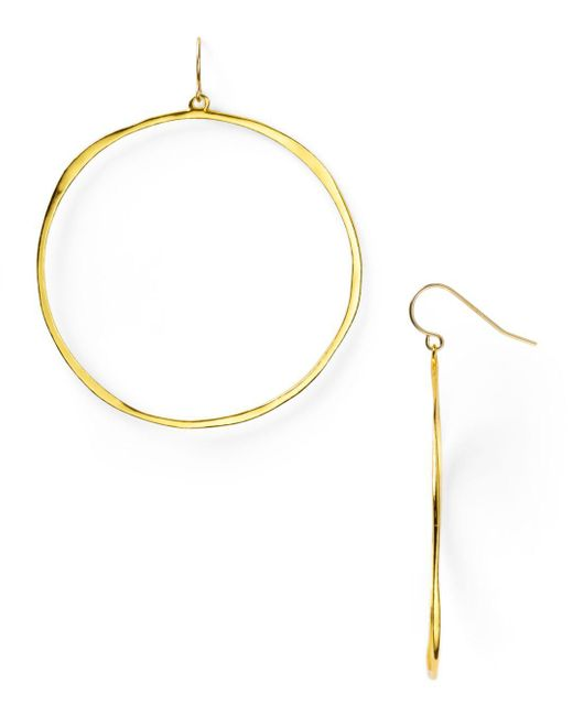 Gorjana Metallic G Ring Circle Drop Earrings