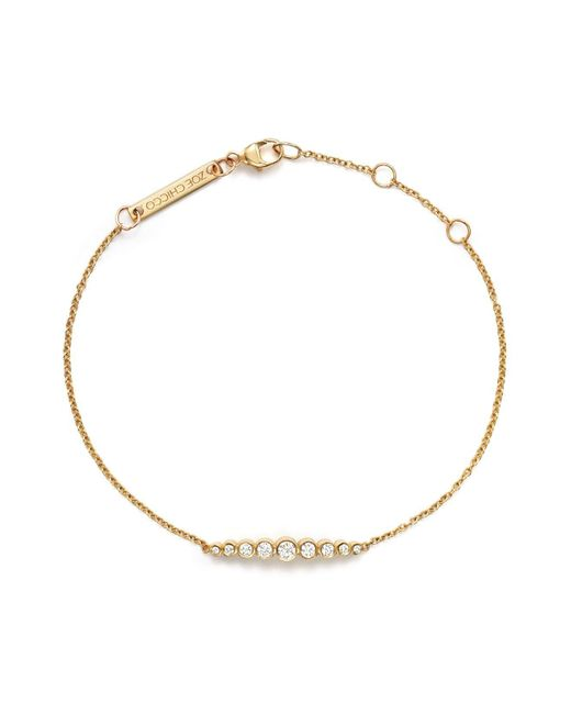 Zoe Chicco - Metallic 14k Yellow Gold And Diamond Graduated Bezel-set Bracelet - Lyst