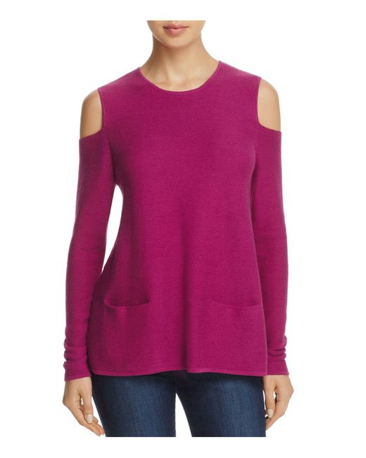 Lisa Todd | Purple The Flirt Cold-shoulder Sweater | Lyst