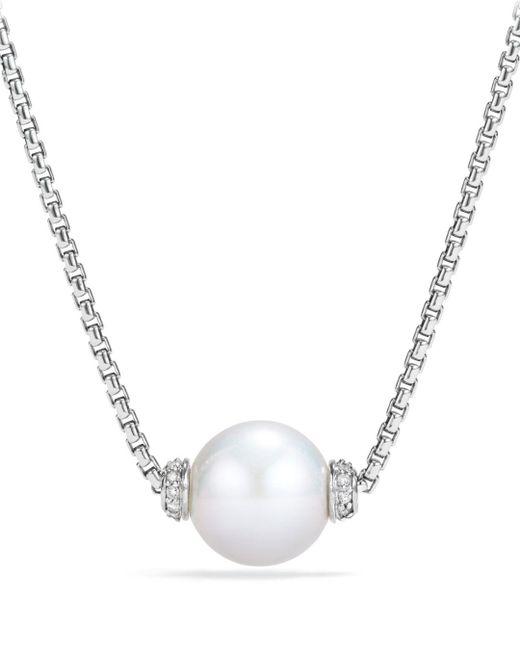 David Yurman Metallic Solari Pendant Necklace With Diamonds & Cultured Freshwater Pearl