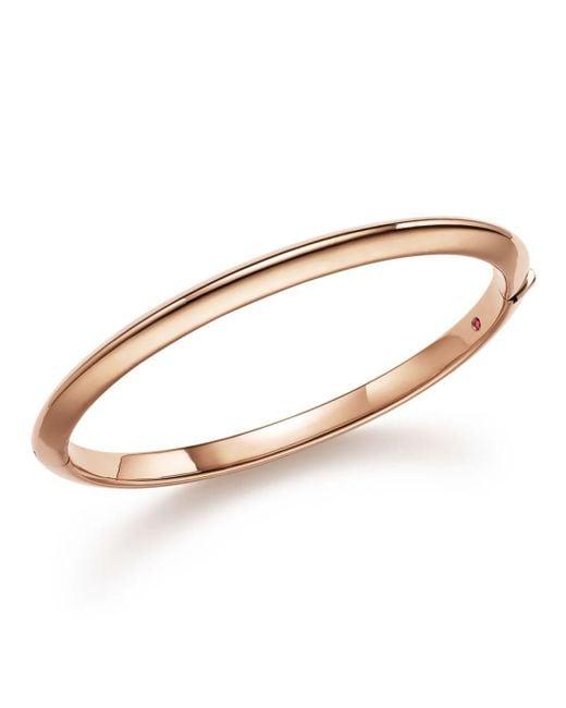 Roberto Coin - Pink 18k Rose Gold Bangle - Lyst