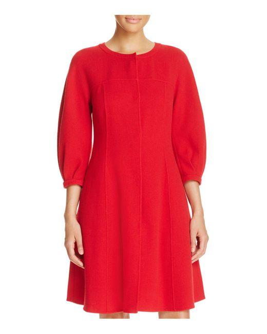 Armani | Red Puff-sleeve Coat | Lyst