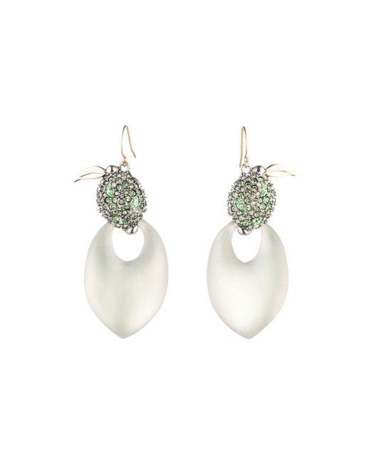 Alexis Bittar - Multicolor Crystal Encrusted Lime Drop Earrings - Lyst