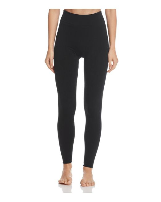Hue | Black Brushed Seamless Leggings | Lyst
