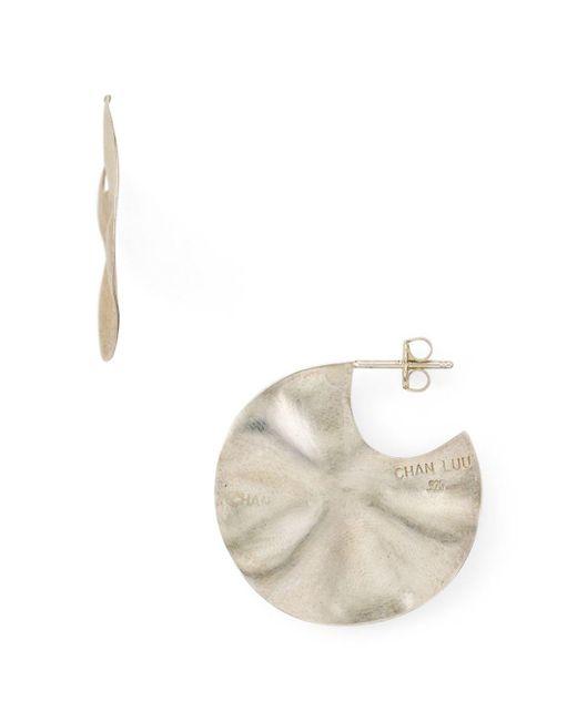 Chan Luu Metallic Wavy Disc Drop Earrings