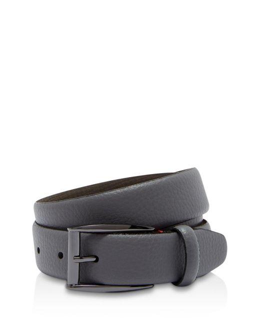 Ted Baker - Gray Hanoy Colored Leather Belt for Men - Lyst