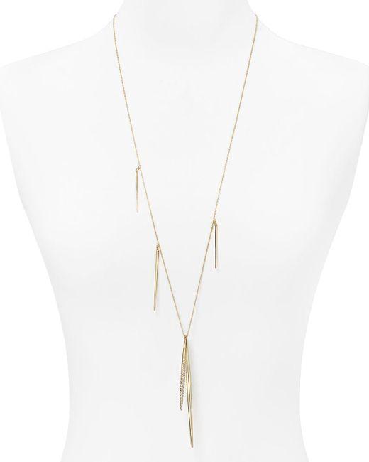 "Alexis Bittar | Metallic Miss Havisham Crystal Encrusted Long Spear Necklace, 32"" | Lyst"