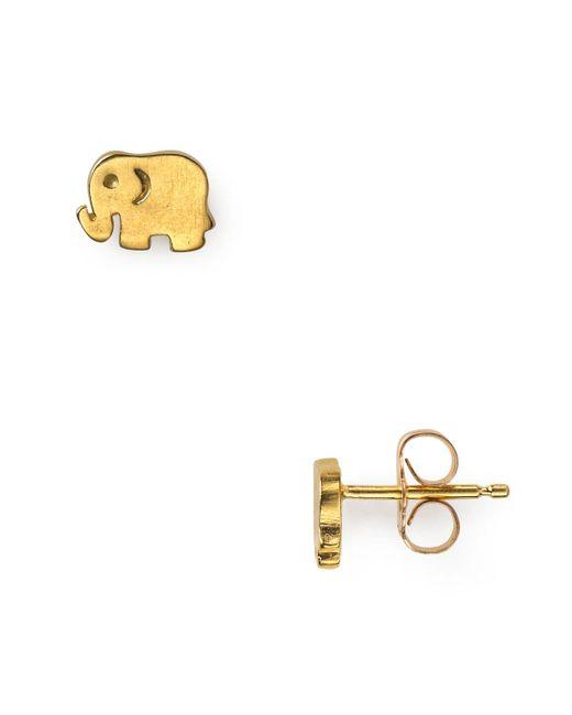 Dogeared   Metallic Little Elephant Stud Earrings   Lyst