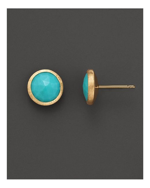 Marco Bicego | Blue 18k Yellow Gold And Turquoise Earrings | Lyst