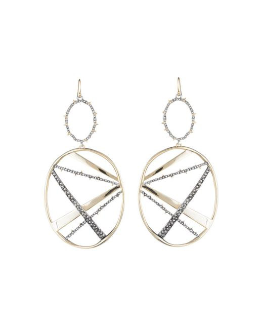Alexis Bittar Metallic Crystal Encrusted Large Plaid Drop Earring You Might Also Like