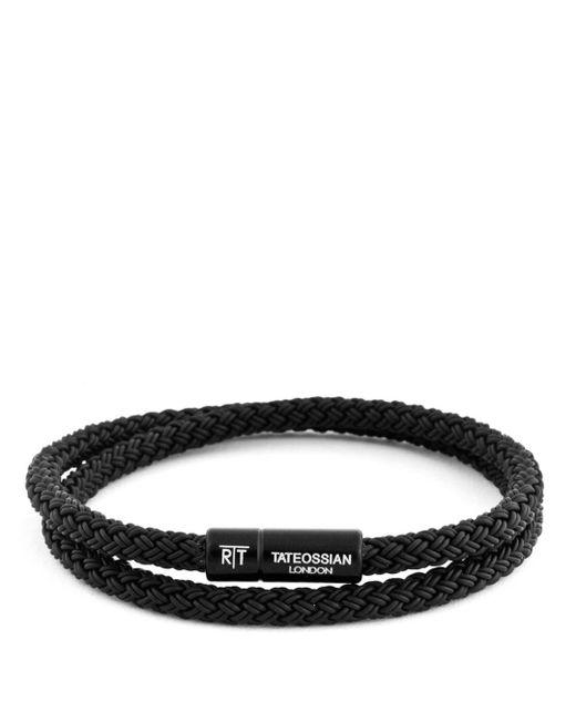 Tateossian - Black Rubber Cable Bracelet for Men - Lyst
