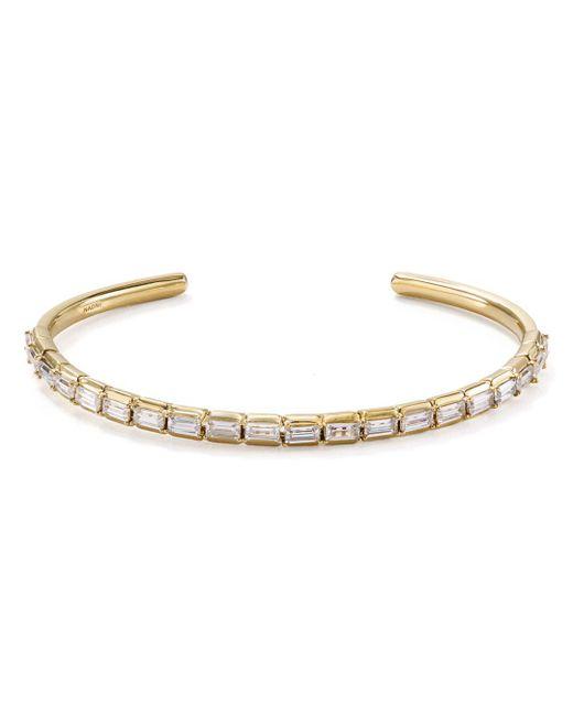 Nadri - Metallic Gris Cuff Bracelet - Lyst