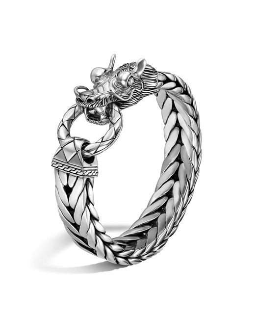 John Hardy | Metallic Legends Naga Silver Dragon Head Bracelet for Men | Lyst