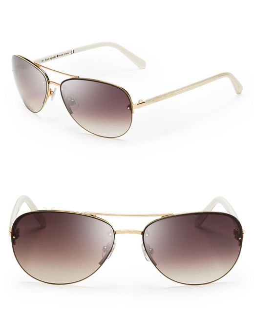 Kate Spade Black Women's Beryl Aviator Sunglasses