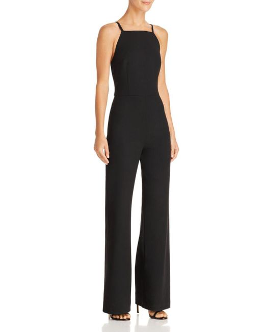 French Connection - Black Whisper Wide-leg Jumpsuit - Lyst