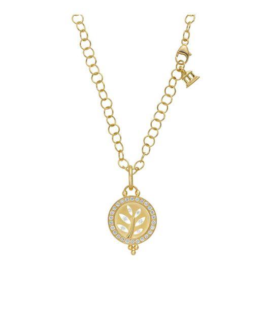 Temple St. Clair | Metallic 18k Yellow Gold Pavé Halo Tree Cutout Pendant With Diamonds | Lyst