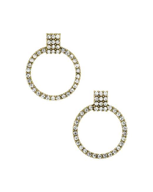 BaubleBar - Metallic Gemma Pavé Loop Drop Earrings - Lyst