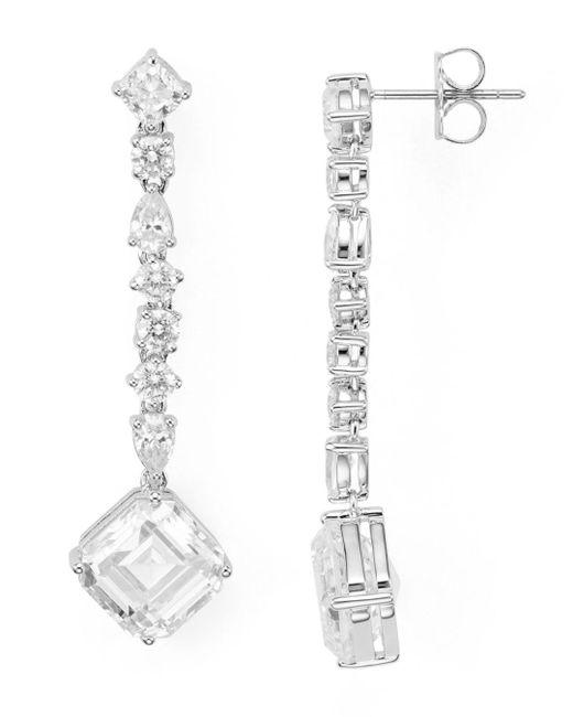 Nadri - Metallic Linear Drop Earrings - Lyst