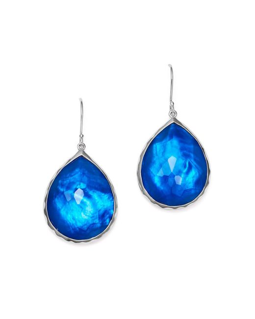 Ippolita - Blue Sterling Silver Rock Candy® Wonderland Teardrop Earrings In Ultramarine - Lyst