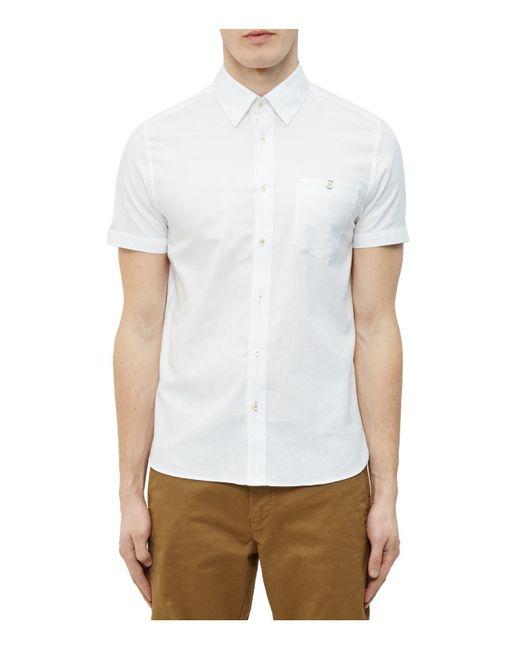 Ted Baker   White Mini Textured Regular Fit Button-down Shirt for Men   Lyst