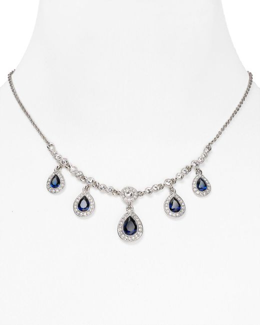 Carolee | Metallic Front Pear Drop Necklace, 16"