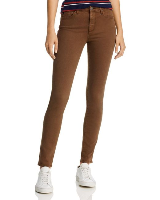 AG Jeans Brown Prima Brushed Color Wash Jeans