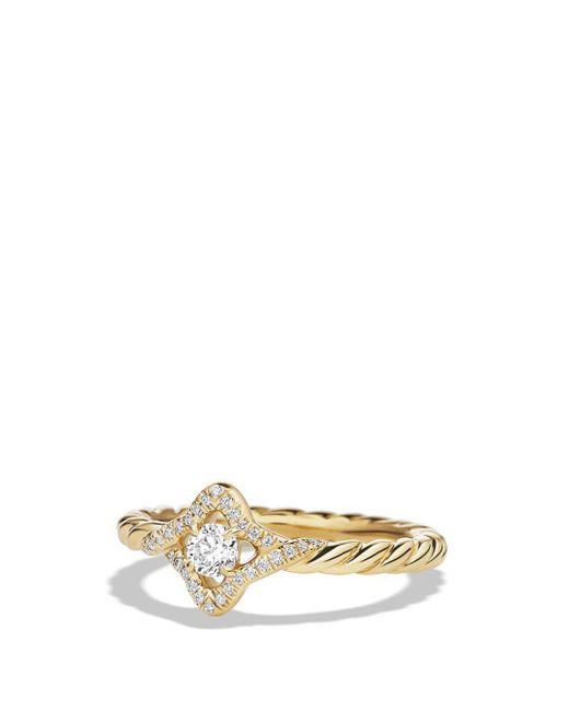 David Yurman - Metallic Venetian Quatrefoil Ring With Diamonds In 18k Gold - Lyst