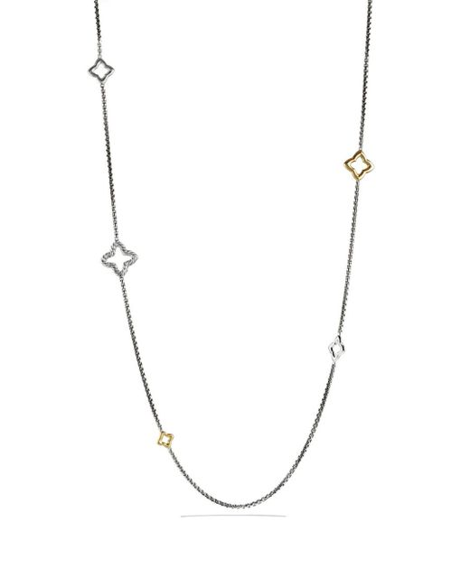 David Yurman - Metallic Quatrefoil Chain Necklace With Gold - Lyst