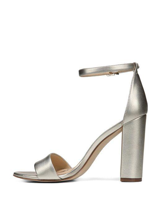 43d6cdada83 Women's Metallic Yaro Ankle Strap Block Heel Sandals