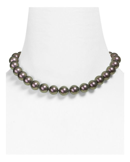 Majorica | Gray Monochrome Simulated Pearl Necklace, 16"