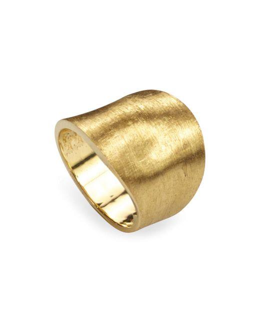 Marco Bicego - Metallic 18k Yellow Gold Engraved Lunaria Ring - Lyst