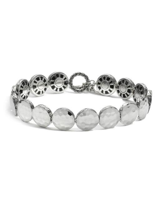 John Hardy Metallic Women's Sterling Silver Palu Small Round Disc Bracelet