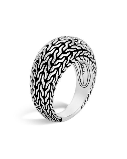 John Hardy   Metallic Sterling Silver Classic Chain Dome Ring   Lyst
