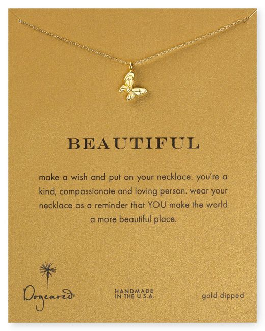 Dogeared | Metallic 14k Gold Dipped Butterfly Necklace, 16"