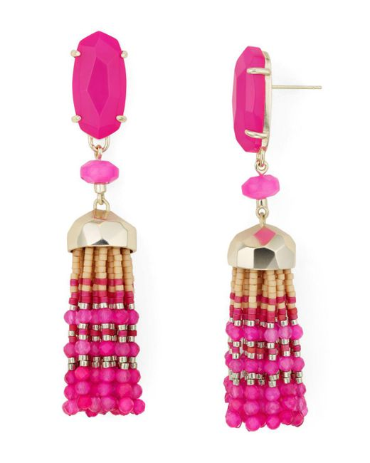 Kendra Scott - Pink Dove Tassel Drop Earrings - Lyst