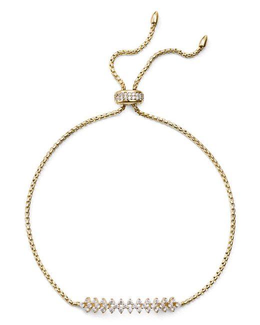 Nadri - Metallic Aura Pavé Bolo Bracelet - Lyst