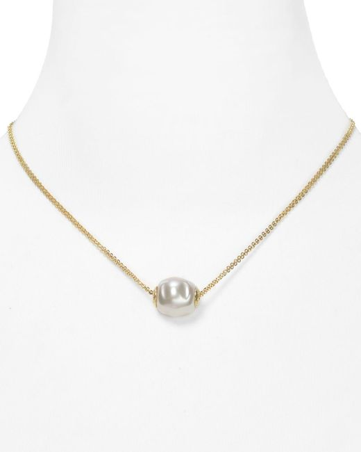 Majorica | Metallic Double Chain Simulated Pearl Necklace, 16"