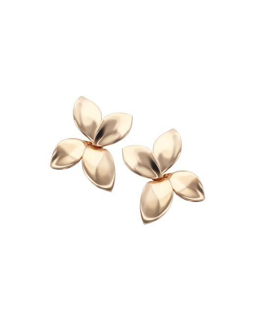 Pasquale Bruni | Metallic 18k Rose Gold Secret Garden Four Petal Stud Earrings | Lyst