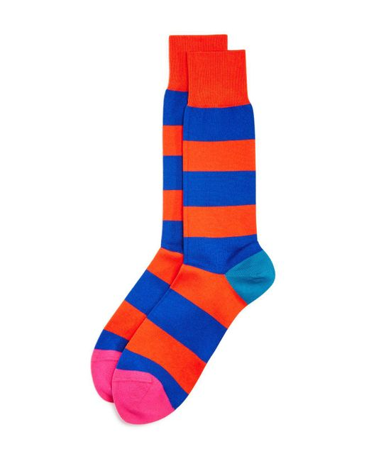 Paul Smith | Orange Parton Stripe Dress Socks for Men | Lyst