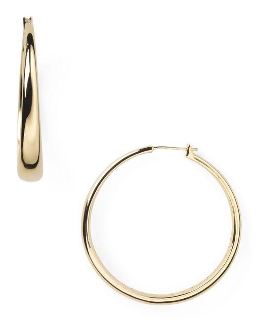 Nadri | Metallic Medium Tapered Hoop Earrings | Lyst