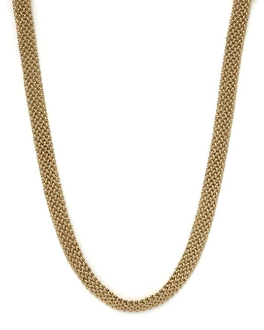 Bloomingdale's Metallic Woven Necklace In 14k Yellow Gold