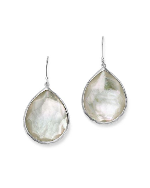 Ippolita - Metallic Sterling Silver Wonderland Teardrop In Mother-of-pearl Earrings - Lyst