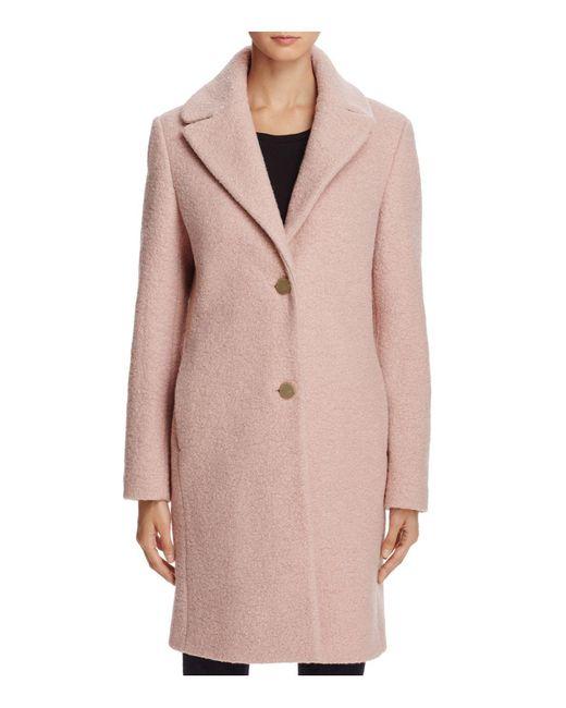 T Tahari - Pink Tessa Bouclé Coat - Lyst