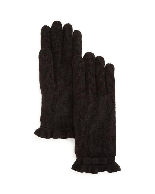 Kate Spade | Black Ruffled Gloves | Lyst
