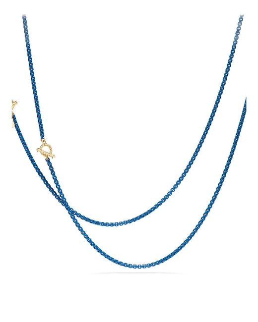David Yurman - Blue Dy Bel Aire Chain Necklace With 14k Gold Accents - Lyst