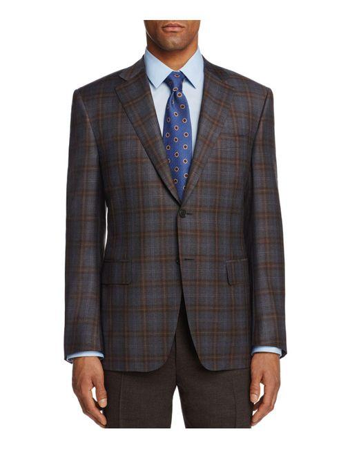 Canali   Gray Plaid Classic Fit Sport Coat for Men   Lyst