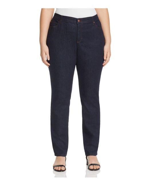 Eileen Fisher | Blue System Skinny Jeans In Indigo | Lyst