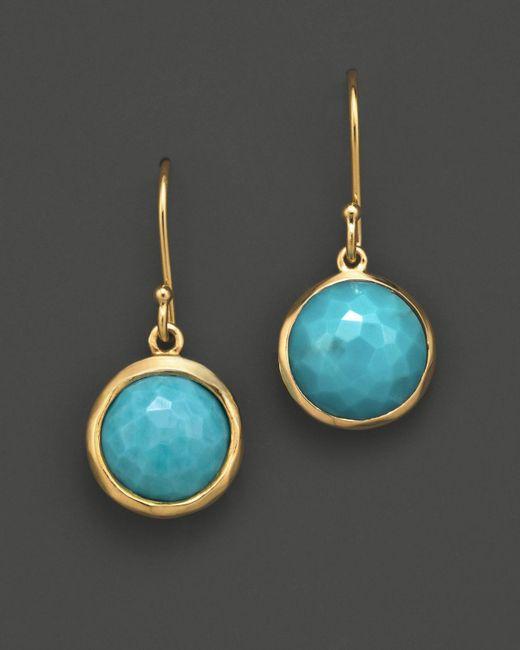 Ippolita | Metallic 18k Gold Lollipop Earrings In Turquoise | Lyst