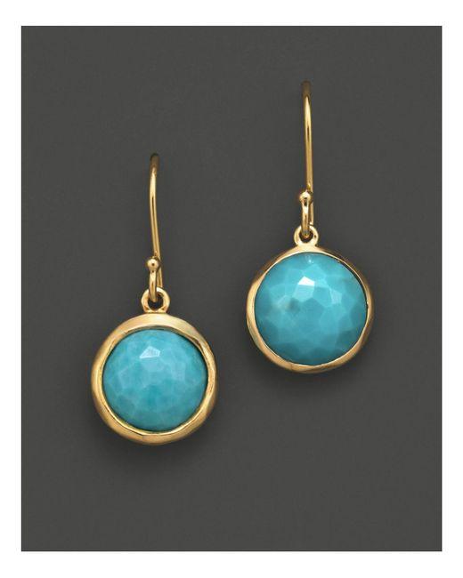 Ippolita   Metallic 18k Gold Lollipop Earrings In Turquoise   Lyst