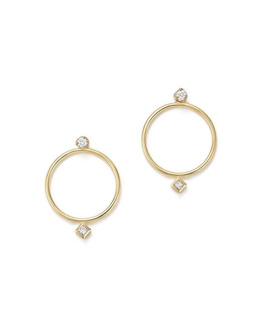 Zoe Chicco - Metallic 14k Yellow Gold Diamond Circle Ear Jackets - Lyst